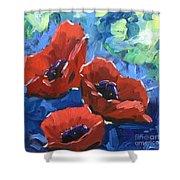 Poppies Splender Shower Curtain