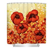 Poppin Poppies #2 Shower Curtain