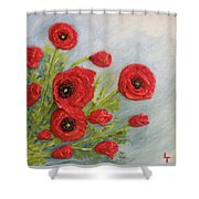 Poppin Poppies Shower Curtain