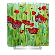 Popping Up Shower Curtain