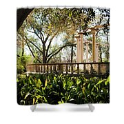 Popp's Fountain Shower Curtain