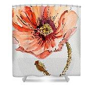 Poppy #2 Shower Curtain