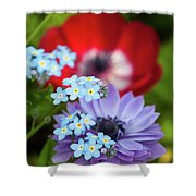 Poppy And Friends Shower Curtain