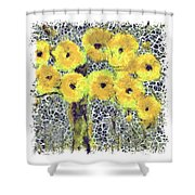 Poppy Bouquet I Pf Shower Curtain