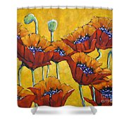 Poppy Craze By Prankearts Shower Curtain