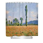 Poppy Field, Giverny Shower Curtain