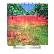 Poppy Field II Shower Curtain