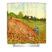 Poppy Hill Shower Curtain