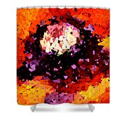 Poppy Mosaic Shower Curtain