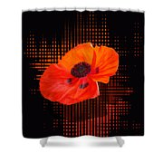 Poppy Passion Square Shower Curtain