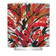 Poppy Storm Shower Curtain