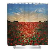Poppy Sunset Shower Curtain