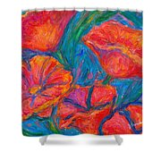 Poppy Twirl Shower Curtain