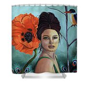 Poppy Updated Photo Shower Curtain