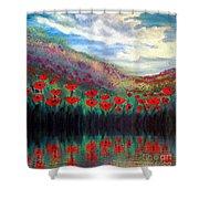 Poppy Wonderland Shower Curtain