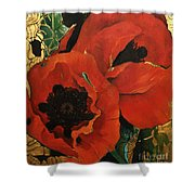 Poppygold Shower Curtain