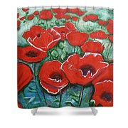Poppylarity Contest II Shower Curtain