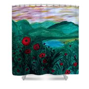 Poppys Shower Curtain