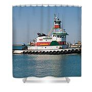 Popular Sight At Port Canaveral On Florida Shower Curtain