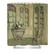 Porcelains Shower Curtain