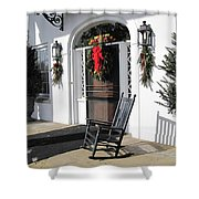 Porch At Boone Hall Plantation Charleston Sc Shower Curtain