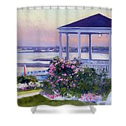 Porch At Sunet Shower Curtain