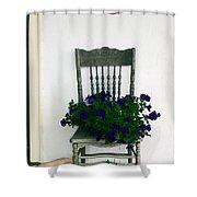 Porch Flowers Shower Curtain