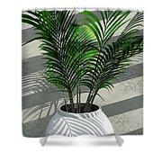 Porch Plant Shower Curtain