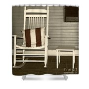 Porch Rocker Shower Curtain