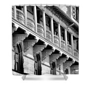 Porches Of Flagler College Shower Curtain