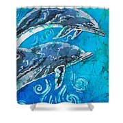 Porpoise Pair - Close Up Shower Curtain
