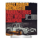 Porsche 1970 Rally World Champion Shower Curtain