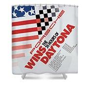 Porsche 24 Hours Of Daytona Wins Shower Curtain