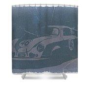 Porsche 356 Coupe Front Shower Curtain