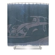 Porsche 356 Coupe Front Shower Curtain by Naxart Studio