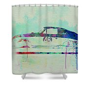 Porsche 356 Watercolor Shower Curtain