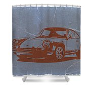 Porsche 911 Shower Curtain by Naxart Studio