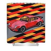 Porsche 911 Turbo Shower Curtain