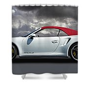 Porsche 911 Turbo S With Clouds Shower Curtain