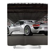 #porsche #918spyder #print Shower Curtain