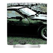 Porsche 944 On A Hot Afternoon Shower Curtain