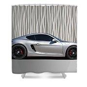 Porsche Beautiful Dream Sports Car Shower Curtain