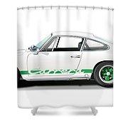 Porsche Carrera Rs Illustration Shower Curtain