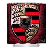 Porsche Emblem Shower Curtain