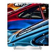 Porsche Fins Shower Curtain