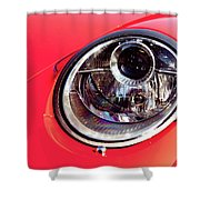 Porsche Headlight Shower Curtain