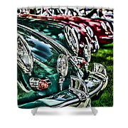 Porsche Row Shower Curtain
