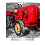 Porsche Tractor Shower Curtain