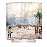 Port Alcudia Beach 01 Shower Curtain