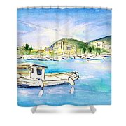 Port Andratx 01 Shower Curtain